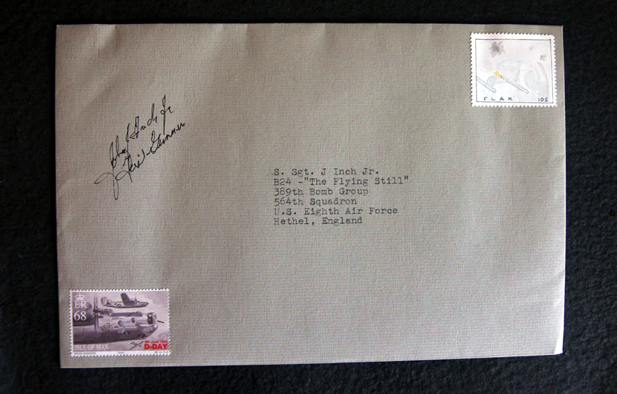 B24 Flak stamp by Bruce Bowden, Bellingham WA