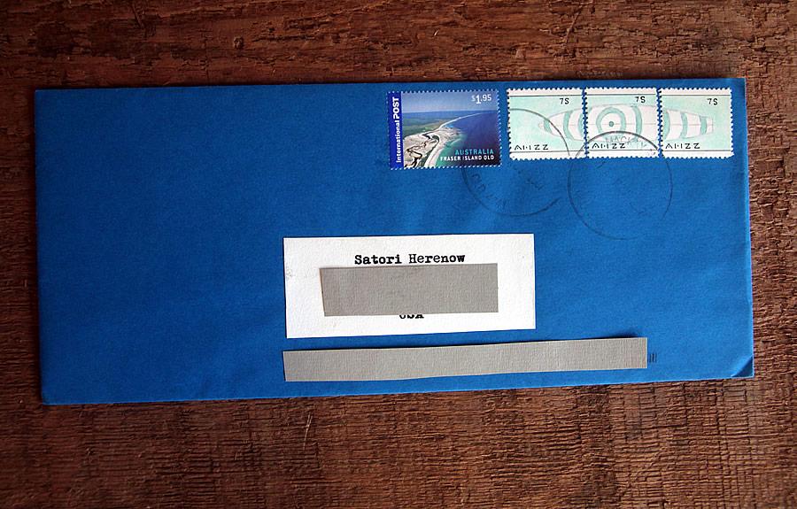 Ahzz - Surfboard - Bruce Bowden Stamp art
