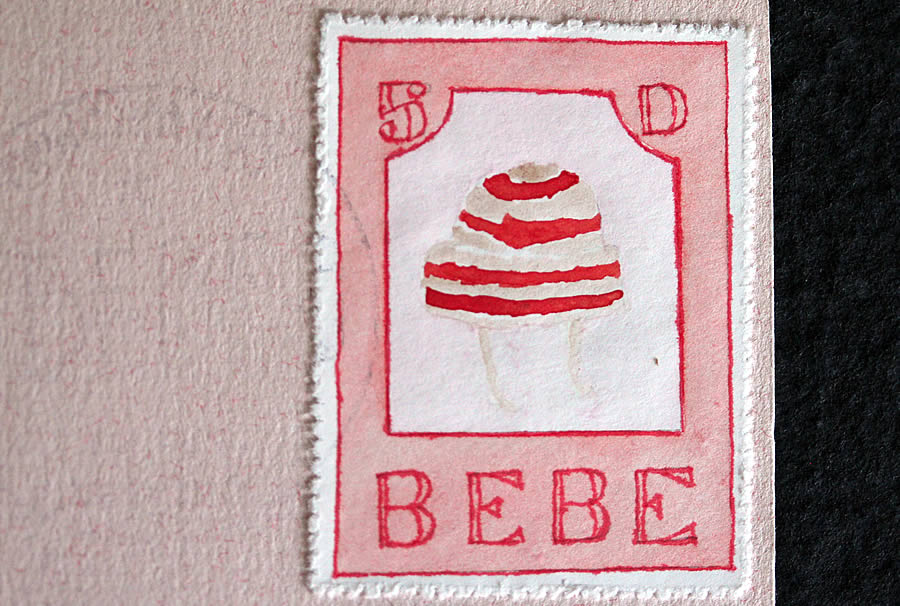 bebe toque hat by bruce bowden stamps