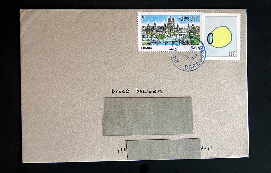 Lemon in Hv, bruce bowden paintings on stamps