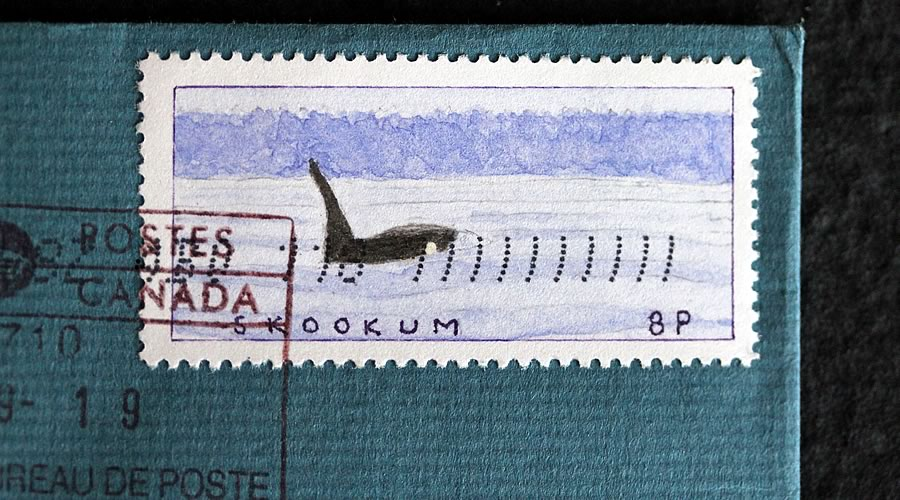 skookum orca whale stamp bruce bowden