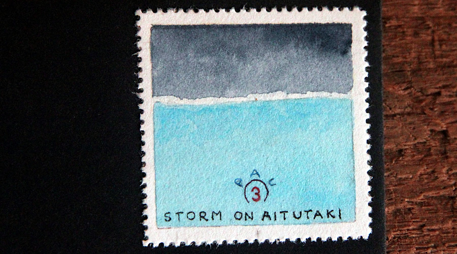 storm in pau by bruce bowden stamps