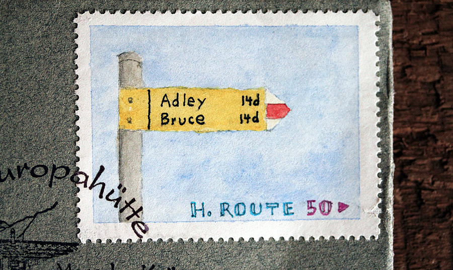 sign stamp by bruce bowden paintings on stamps