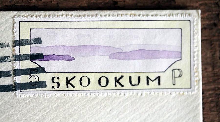 Bruce Bowden skookum island stamp